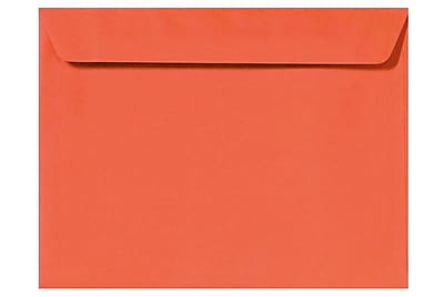LUX 6 x 9 Booklet Envelopes 1000/Box) 50/Box, Tangerine (LUX-4820-112-50)