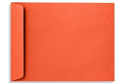 LUX 9 x 12 Open End Envelopes 50/Box) 50/Box, Tangerine (LUX-4894-112-50)