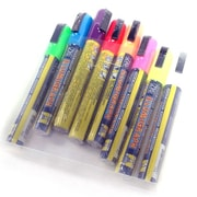 "Chalk Markers Fluorescent Set, 7"" x 5"" x 1"", 8/Pack"
