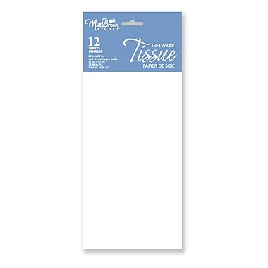 Solid Colour Tissue, White, 12/Pack