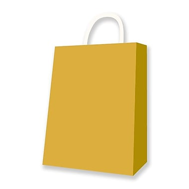 Medium Kraft Bag, Gold, 12 Bags