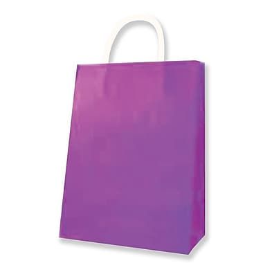 Medium Kraft Bag, Purple, 12/Pack