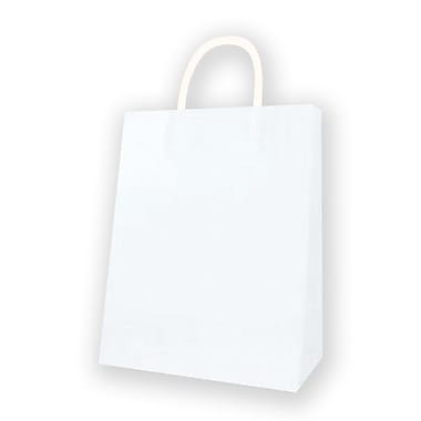 Medium Kraft Bag, White, 12 Bags