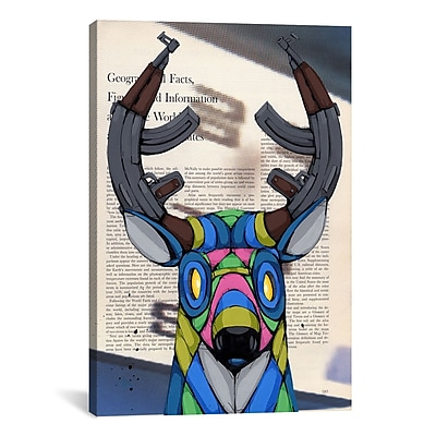 iCanvas Head Fulla Violence by Ric Stultz Graphic Art on Wrapped Canvas; 41'' H x 27'' W x 1.5'' D