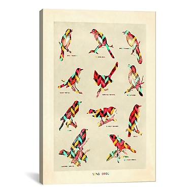 iCanvas Song Birds by Maximilian San Graphic Art on Wrapped Canvas; 61'' H x 41'' W x 1.5'' D