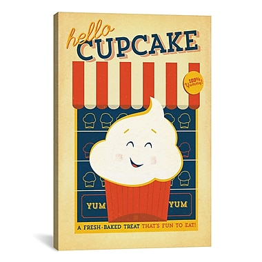 iCanvas Hello Cupcake Painting Print on Wrapped Canvas; 26'' H x 18'' W x 0.75'' D