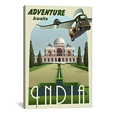 iCanvas India by Steve Thomas Graphic Art on Wrapped Canvas; 26'' H x 18'' W x 0.75'' D