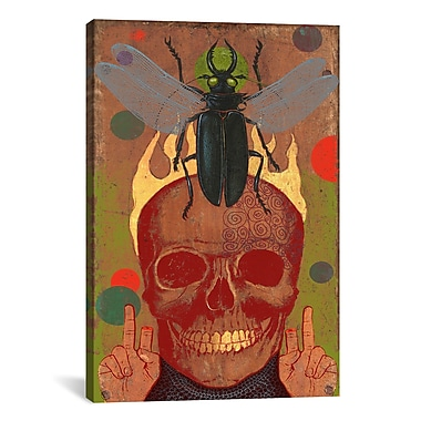 iCanvas Anthony Freda Skull Graphic Art on Wrapped Canvas; 26'' H x 18'' W x 0.75'' D
