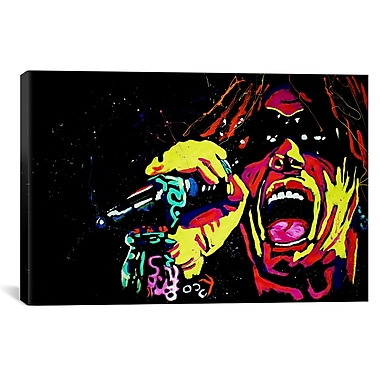 iCanvas Rock Demarco Steven Tyler 001 Painting Print on Wrapped Canvas; 12'' H x 18'' W x 0.75'' D