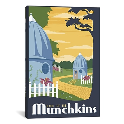 iCanvas Munchkin Travel by Steve Thomas Graphic Art on Wrapped Canvas; 26'' H x 18'' W x 0.75'' D