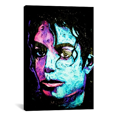 iCanvas Michael Jackson 001 by Rock Demarco Painting Print on Wrapped Canvas