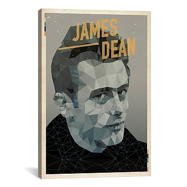iCanvas American Flat James Dean Graphic Art on Wrapped Canvas; 18'' H x 12'' W x 0.75'' D