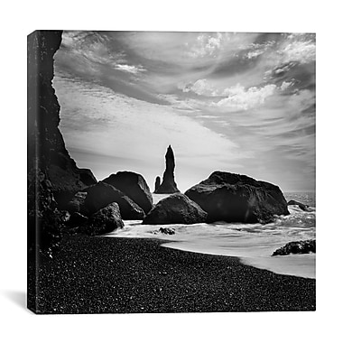 iCanvas Iceland Vik Rocks by Nina Papiorek Photographic Print on Wrapped Canvas