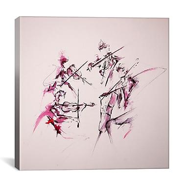 iCanvas 'Quartet' by Marc Allante Painting Print on Wrapped Canvas; 26'' H x 26'' W x 0.75'' D