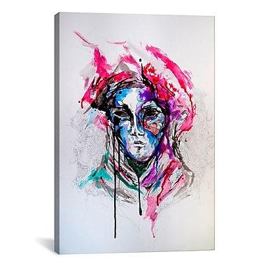 iCanvas 'Masq' by Marc Allante Painting Print on Wrapped Canvas; 18'' H x 12'' W x 0.75'' D