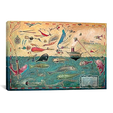 iCanvas 'Middle Sea' by Daniel Peacock Graphic Art on Wrapped Canvas; 18'' H x 26'' W x 0.75'' D