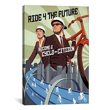 iCanvas Cyclo Citizen by Steve Thomas Graphic Art on Wrapped Canvas; 26'' H x 18'' W x 0.75'' D