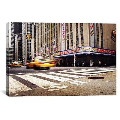iCanvas New York City Radio City by Nina Papiorek Photographic Print on Wrapped Canvas