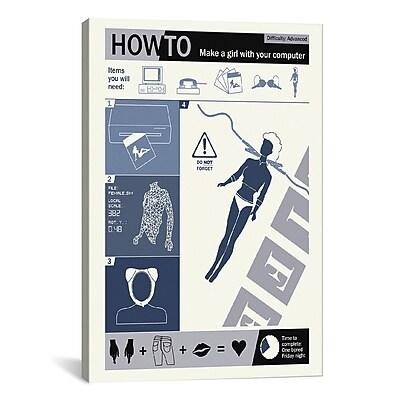 iCanvas How to Create a Woman Canvas Print Wall Art; 40'' H x 26'' W x 0.75'' D
