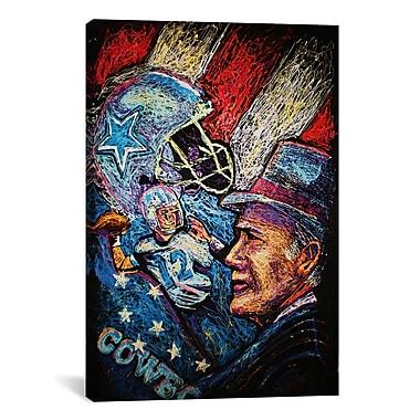 iCanvas Dallas Cowboys 001 Canvas Print Wall Art; 26'' H x 18'' W x 0.75'' D