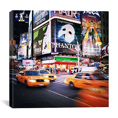 iCanvas New York City Taxi by Nina Papiorek Photographic Print on Wrapped Canvas