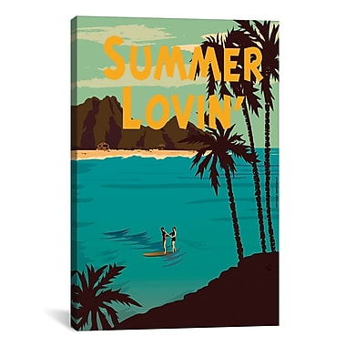 iCanvas American Flat ''Summer Loving'' Graphic Art on Wrapped Canvas; 26'' H x 18'' W x 0.75'' D