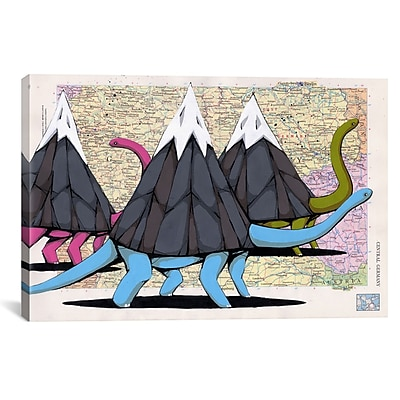 iCanvas Ric Stultz Born To Move Mountains Graphic Art on Wrapped Canvas; 26'' H x 40'' W x 0.75'' D