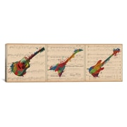iCanvas Music Instrument Panoramic Graphic Art on Wrapped Canvas; 12'' H x 36'' W x 1.5'' D