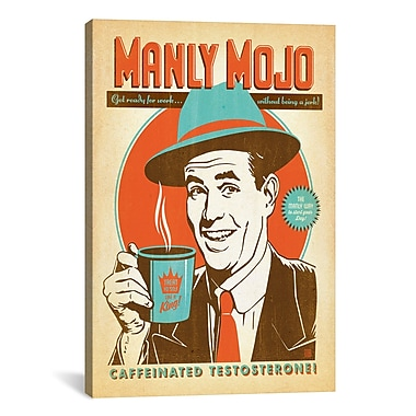 iCanvas COF Manly Mojo Graphic Art on Wrapped Canvas; 40'' H x 26'' W x 0.75'' D