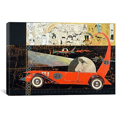 iCanvas Car 21 by Anthony Freda Graphic Art on Wrapped Canvas; 27'' H x 41'' W x 1.5'' D