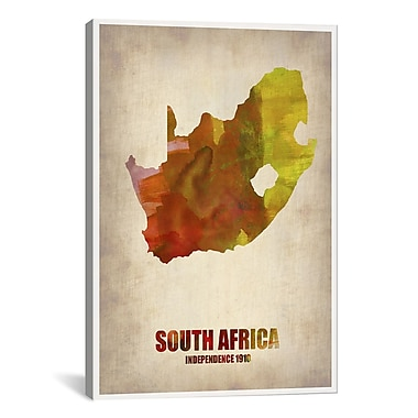 iCanvas South African Map by Naxart Graphic Art on Wrapped Canvas; 40'' H x 26'' W x 0.75'' D