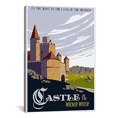 iCanvas Witche's Castle Travel by Steve Thomas Graphic Art on Wrapped Canvas