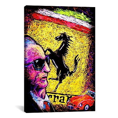 iCanvas Enzo Ferrari Emblem by Rock Demarco Painting Print on Wrapped Canvas
