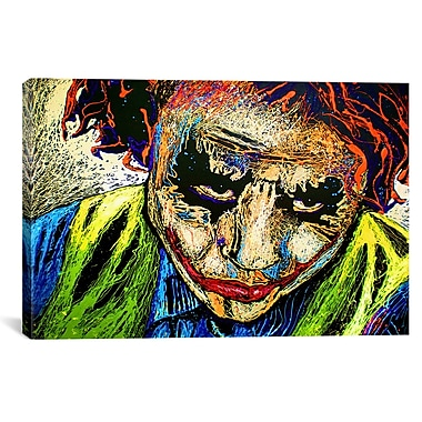 iCanvas Joker Dripped 001 Canvas Print Wall Art; 26'' H x 40'' W x 0.75'' D