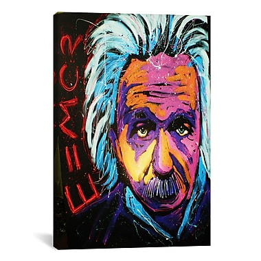 iCanvas Einstein New 001 by Rock Demarco Painting Print on Wrapped Canvas; 41'' H x 27'' W x 1.5'' D