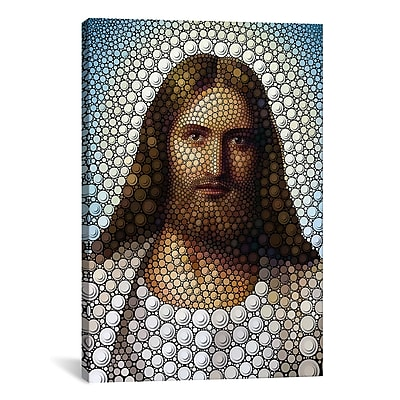 iCanvas 'Jesus Christ' by Ben Heine Graphic Art on Wrapped Canvas; 26'' H x 18'' W x 0.75'' D