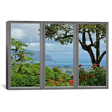iCanvas Hawaii Window View Photographic Print on Wrapped Canvas; 41'' H x 61'' W x 1.5'' D