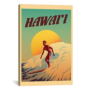 iCanvas Hawaii Graphic Art on Wrapped Canvas; 41'' H x 27'' W x 1.5'' D