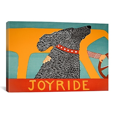 iCanvas Joyride Black by Stephen Huneck Painting Print on Wrapped Canvas; 26'' H x 40'' W x 0.75'' D