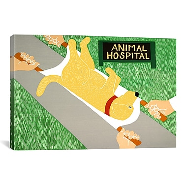 iCanvas Stephen Huneck Animal Hospital Yellow Painting Print on Wrapped Canvas
