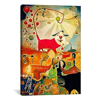 iCanvas 'Apple Vine' by Daniel Peacock Painting Print on Wrapped Canvas; 41'' H x 27'' W x 1.5'' D