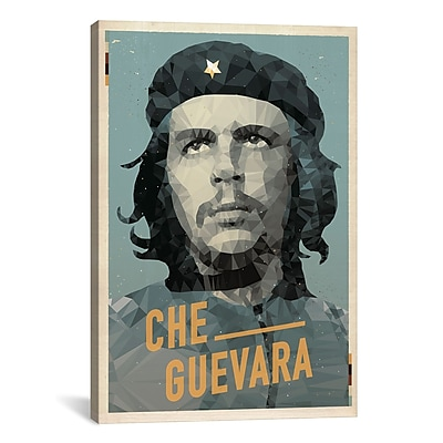 iCanvas American Flat Che Graphic Art on Wrapped Canvas; 18'' H x 12'' W x 0.75'' D