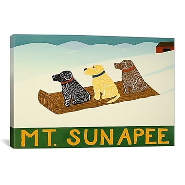 iCanvas Mt. Sunapee Sled Dogs by Stephen Huneck Painting Print on Wrapped Canvas