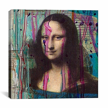iCanvas 'Mona Lisa Dripping' by Luz Graphics Painting Print on Canvas; 12'' H x 12'' W x 1.5'' D