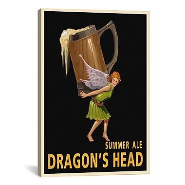 iCanvas Dragon's Head Ale Canvas Print Wall Art; 18'' H x 12'' W x 0.75'' D