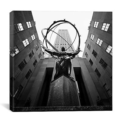iCanvas New York City Rockefellar by Nina Papiorek Photographic Print on Wrapped Canvas