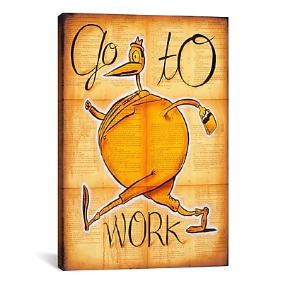 iCanvas 'Go to Work' by Daniel Peacock Painting Print on Wrapped Canvas; 26'' H x 18'' W x 0.75'' D