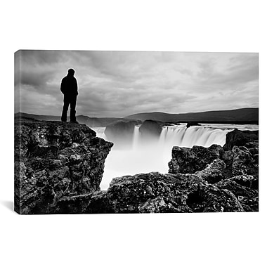 iCanvas Iceland Waterfall by Nina Papiorek Photographic Print on Wrapped Canvas
