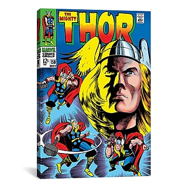 iCanvas Marvel Comics Book Thor Issue Cover 158 Graphic Art on Wrapped Canvas