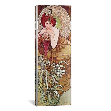 iCanvas Emerald, 1900 by Alphonse Mucha Graphic Art on Wrapped Canvas; 12'' H x 36'' W x 0.75'' D